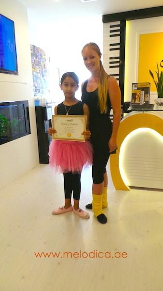 Certificate Melodica music and dance institute JLT dubai