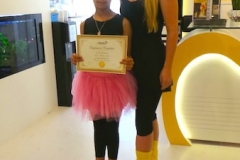 Certificate Melodica music and dance institute JLT dubai