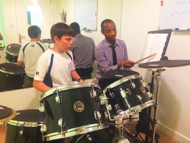 Drums lessons at melodica music school in Dubai