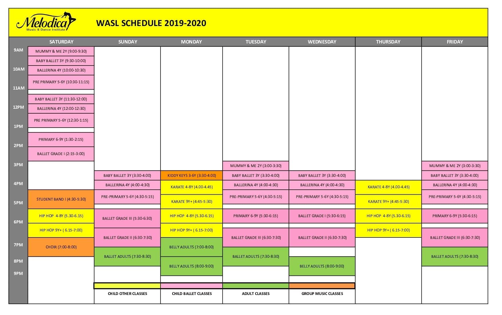 wasl time 2019-2020