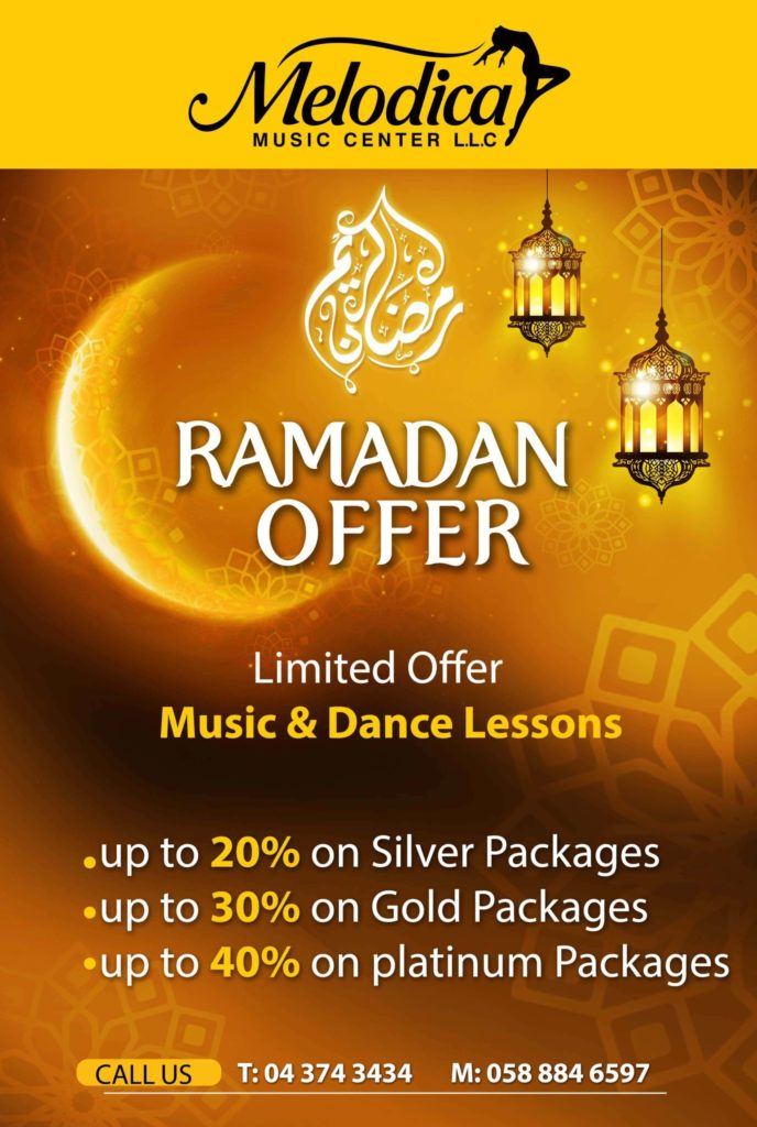Melodica Ramadan offer for online music lesson and dance classes in dubai and abu dhabi