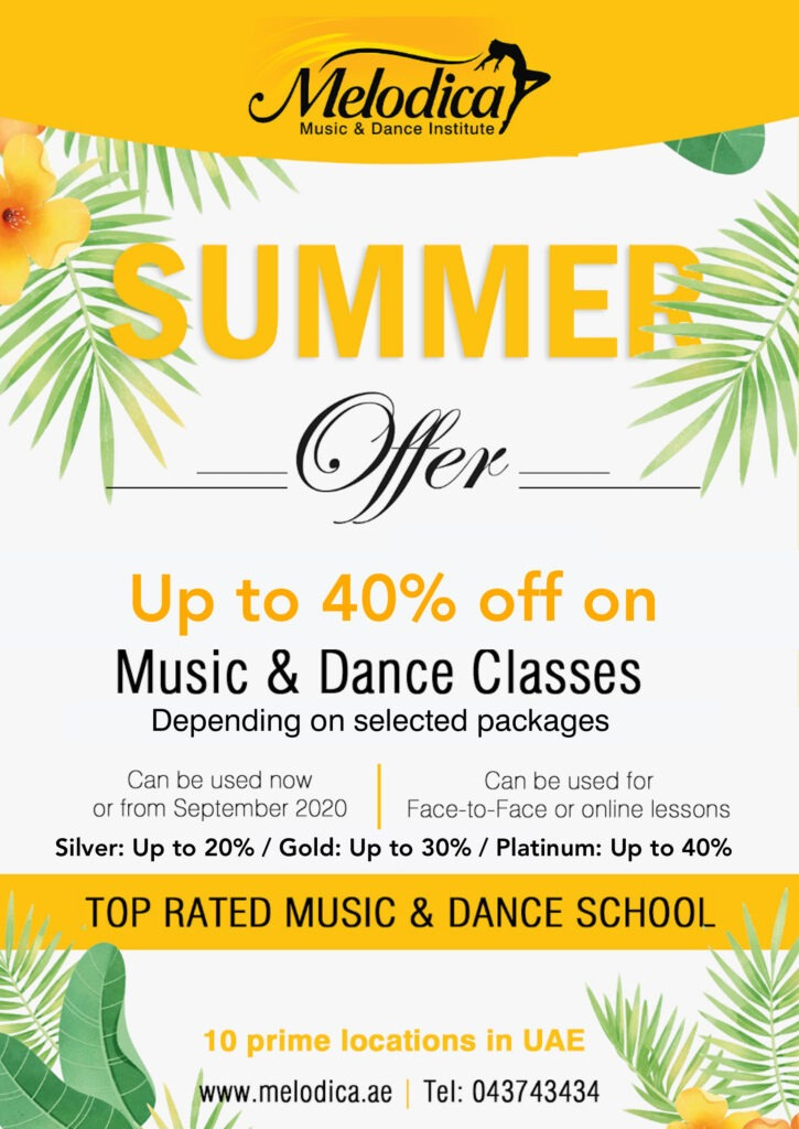 Summer Offer for music & Dance classes at Melodica dubai